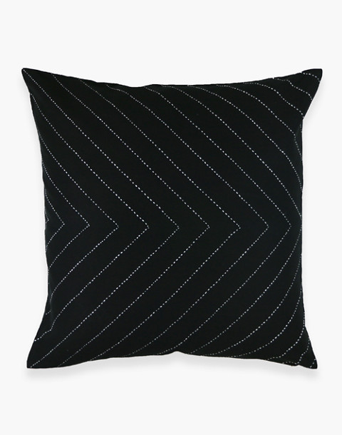 Anchal® Organic Cotton Embroidered Arrow Throw Pillow in black image 1