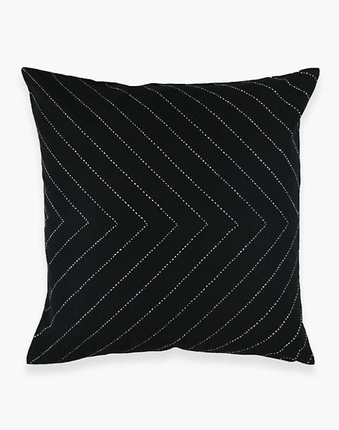 Anchal® Organic Cotton Embroidered Arrow Throw Pillow in black image 2