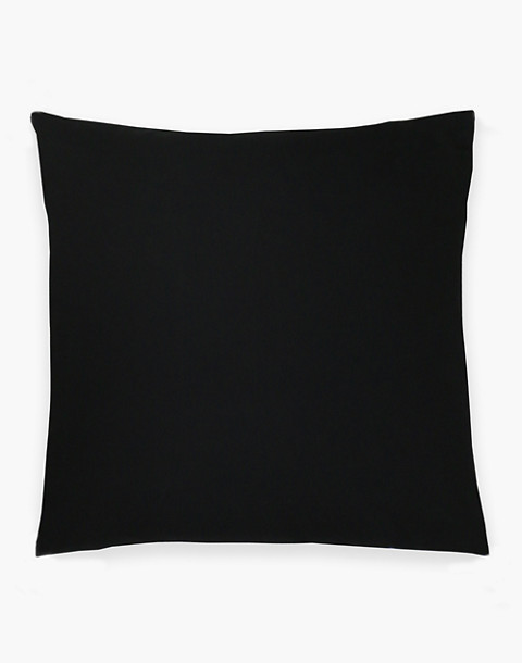 Anchal® Organic Cotton Cross-Stitch Embroidered Throw Pillow in black image 2