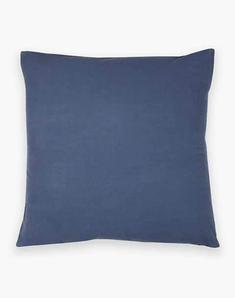 Anchal® Organic Cotton Cross-Stitch Embroidered Throw Pillow in grey image 2