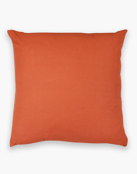 Anchal® Organic Cotton Cross-Stitch Embroidered Throw Pillow in orange image 2