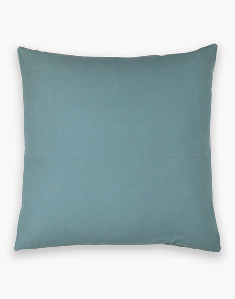 Anchal® Organic Cotton Cross-Stitch Embroidered Throw Pillow in green image 2