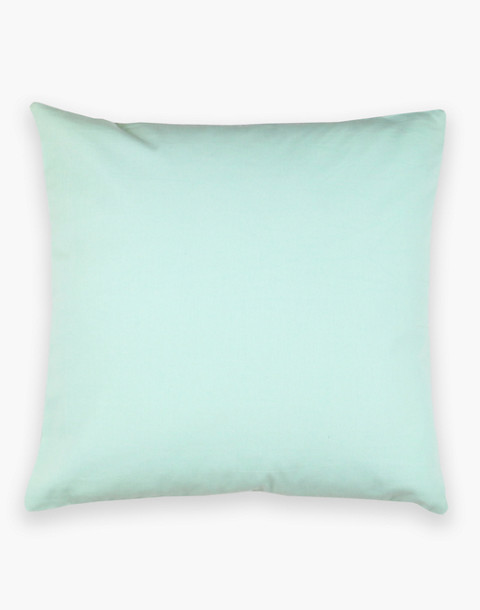 Anchal® Organic Cotton Cross-Stitch Embroidered Throw Pillow in light green image 1