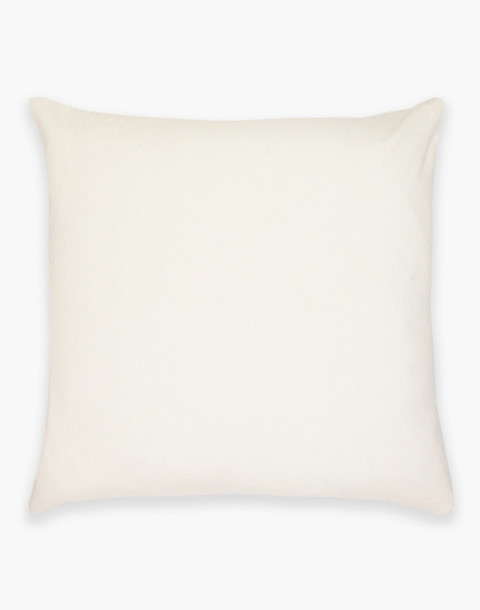 Anchal® Organic Cotton Cross-Stitch Embroidered Throw Pillow in ivory white image 2