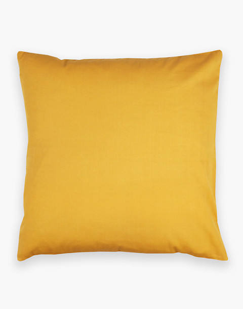 Anchal® Organic Cotton Cross-Stitch Embroidered Throw Pillow in yellow image 2
