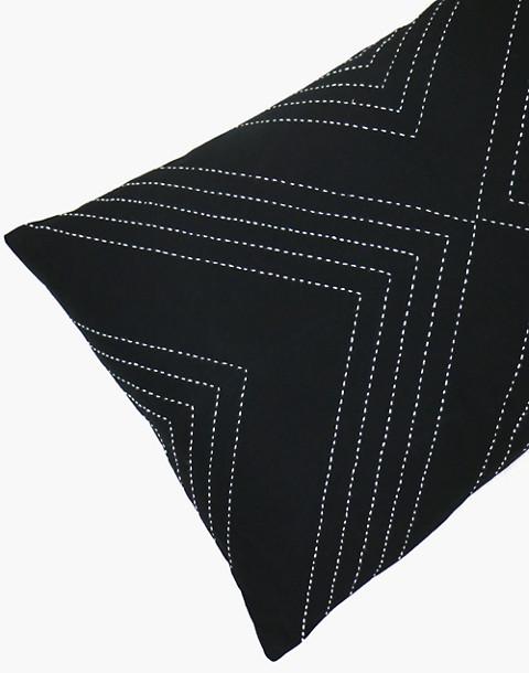 Anchal® Organic Cotton Geometric Lumbar Pillow in black image 1
