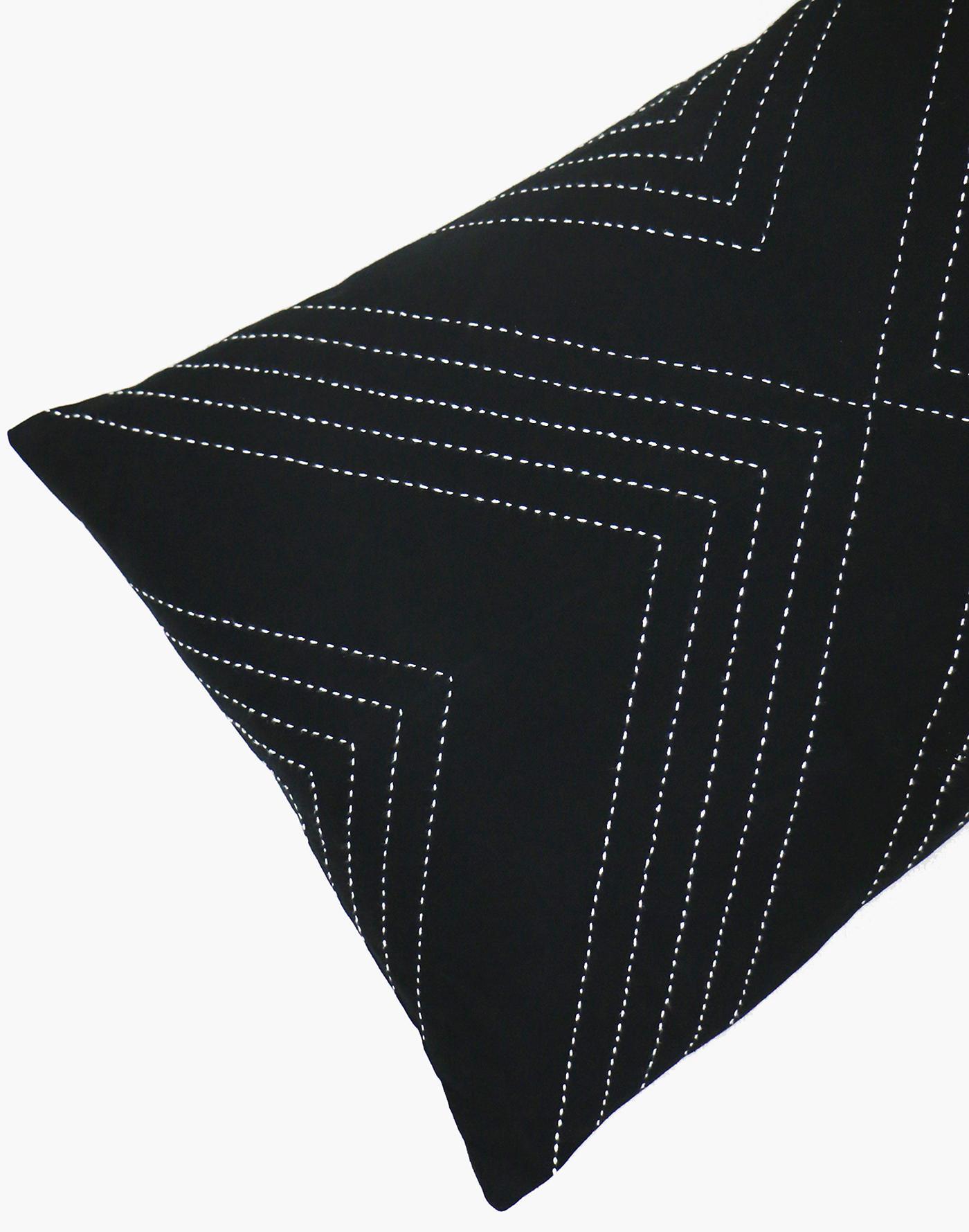 Madewell Anchal Organic Cotton Geometric Lumbar Pillow