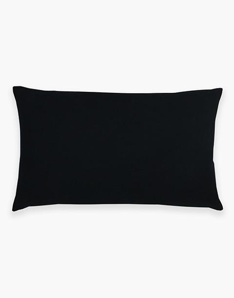 Anchal® Organic Cotton Geometric Lumbar Pillow in black image 2