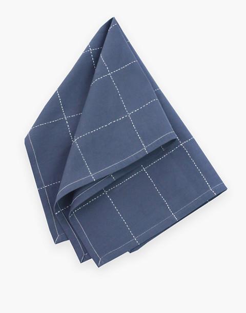 Anchal® Organic Cotton Grid Stitch Tea Towel in grey image 1