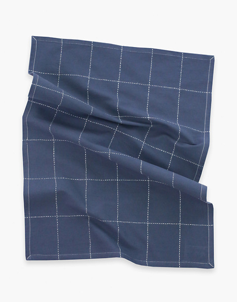 Anchal® Organic Cotton Grid Stitch Tea Towel in grey image 2