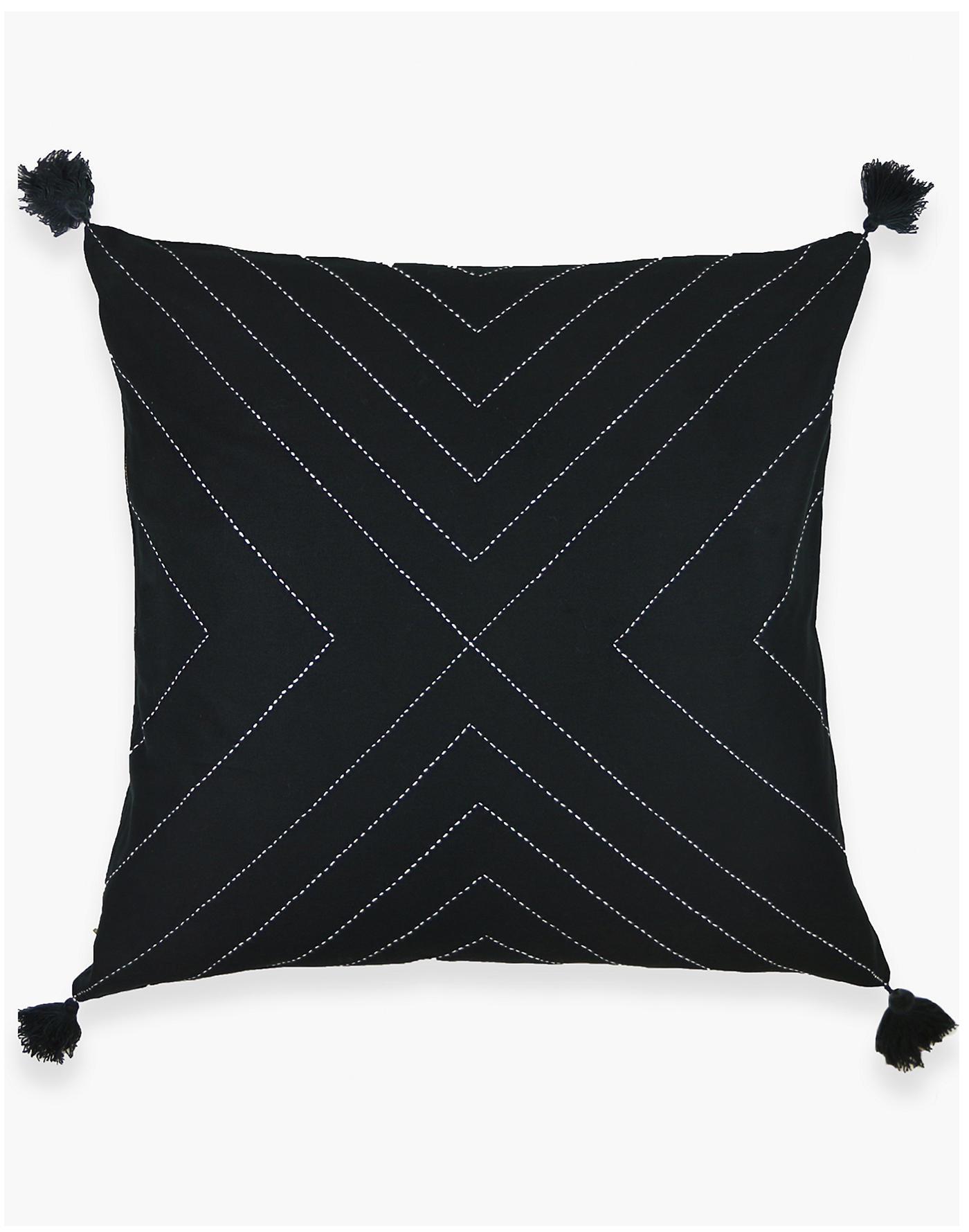 Madewell Anchal Organic Cotton Geometric Tassel Throw Pillow