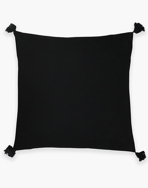 Anchal® Organic Cotton Geometric Tassel Throw Pillow in black image 2