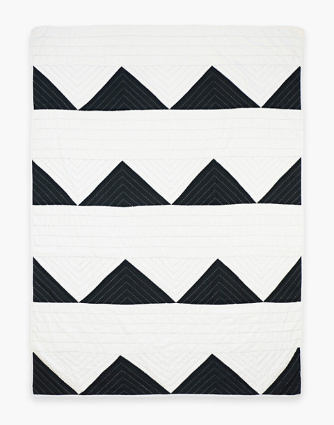 Anchal® Organic Cotton Triangle Throw Quilt in black image 2