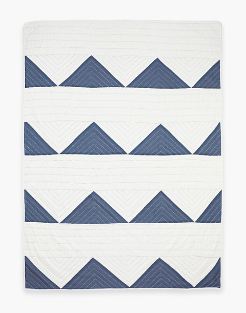 Anchal® Organic Cotton Triangle Throw Quilt in grey image 3