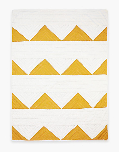 Anchal® Organic Cotton Triangle Throw Quilt in yellow image 2