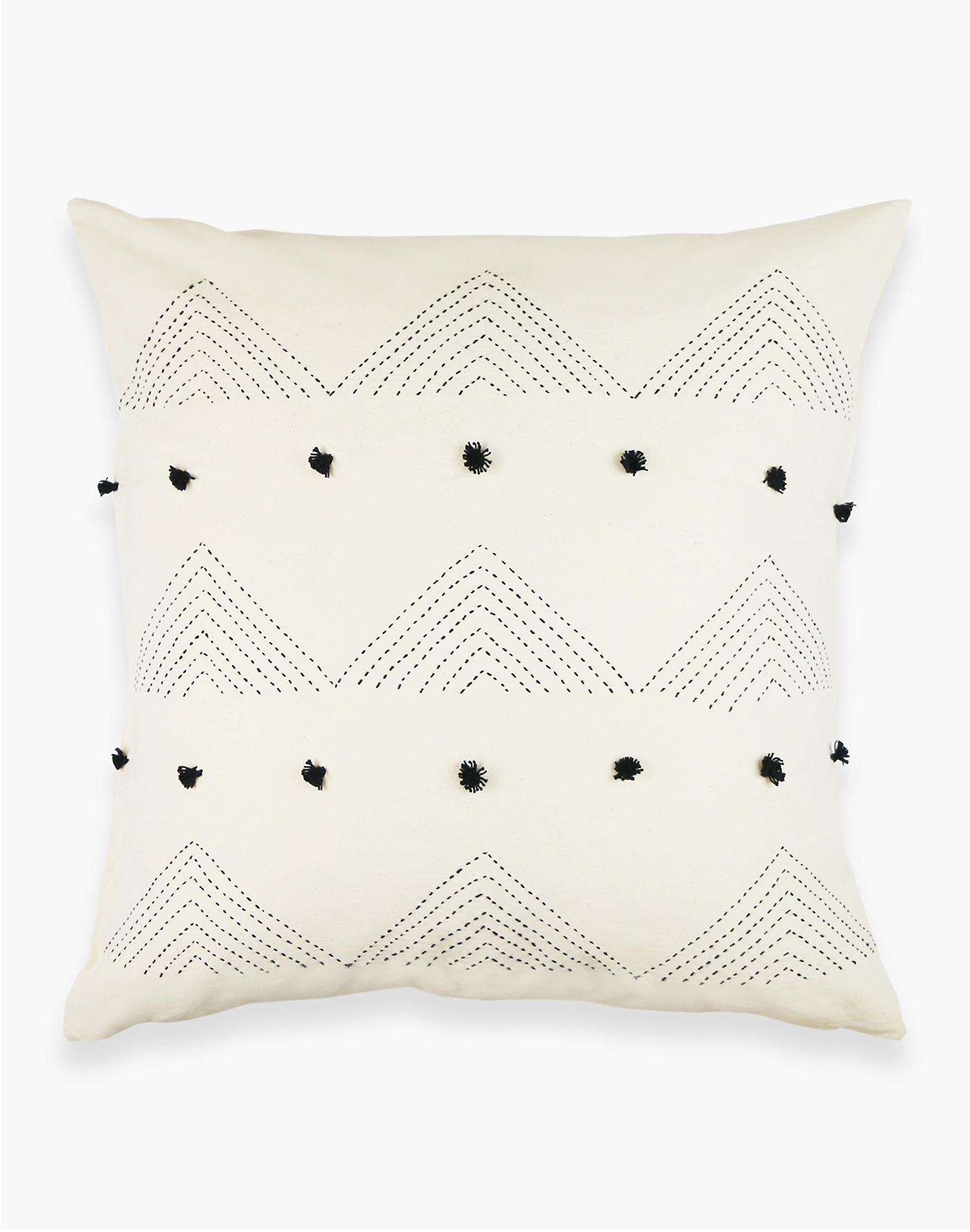 Madewell Anchal Organic Cotton Embroidered Triangle Throw Pillow