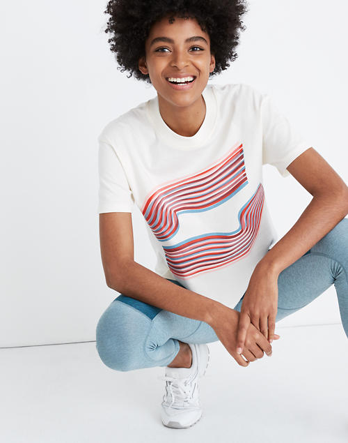 Madewell X Outdoor Voices® Easy Crop Tee by Madewell