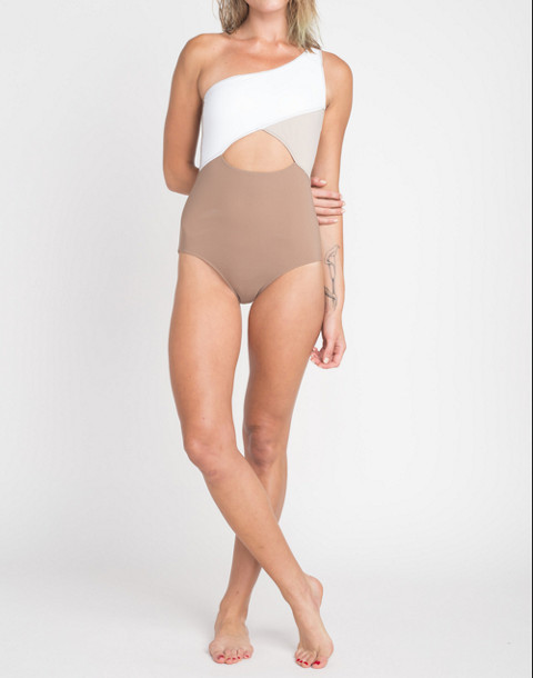 KORE SWIM® Calypso One-Piece Maillot Swimsuit in brown multi image 1