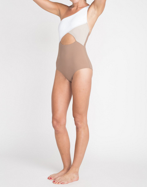 KORE SWIM® Calypso One-Piece Maillot Swimsuit in brown multi image 2