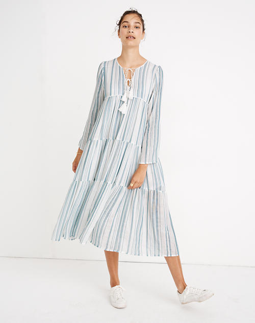 Madewell X Christy Dawn® Striped Paloma Midi Dress by Madewell