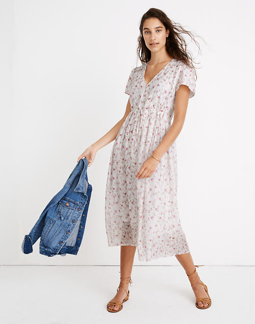 Madewell X Christy Dawn® Dawn Midi Dress In Damask Rose by Madewell
