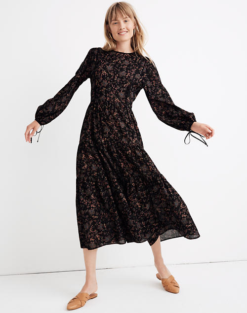 Madewell X Christy Dawn Tallulah Tie Back Midi Dress In Wildblooms by Madewell