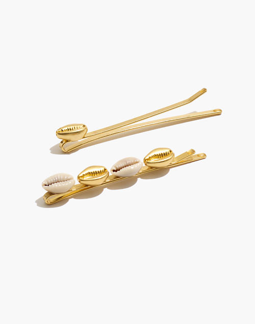 Cowrie Shell Hair Pins by Madewell