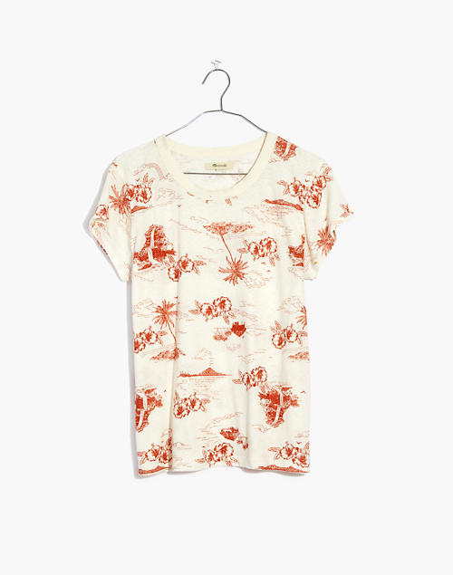 The Perfect Vintage Tee in Paradise Toile in lighthouse image 1