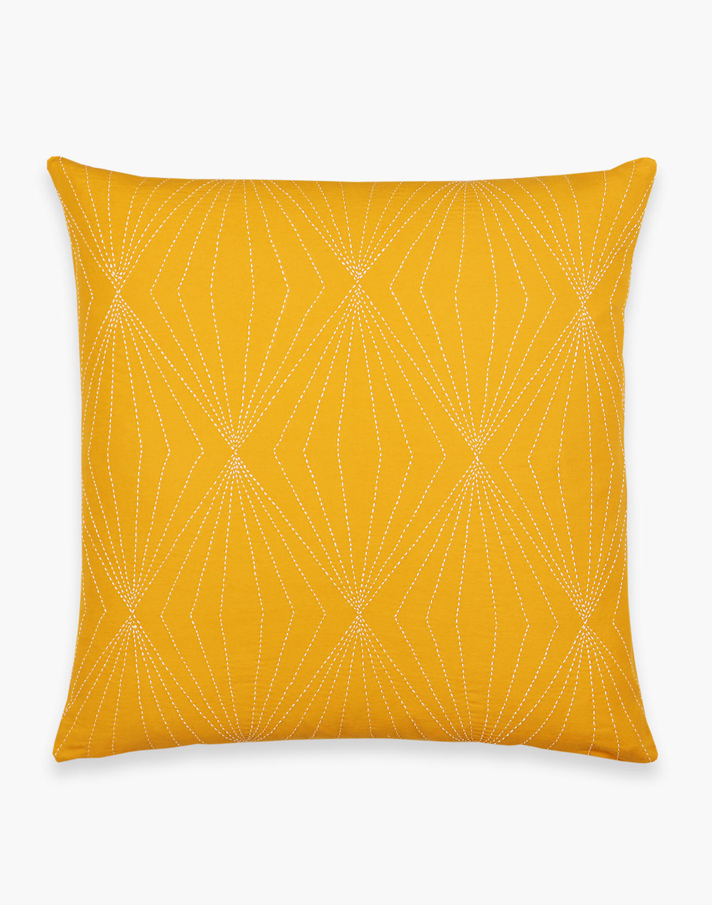 Madewell Anchal Stitched Organic Cotton Prism Throw Pillow