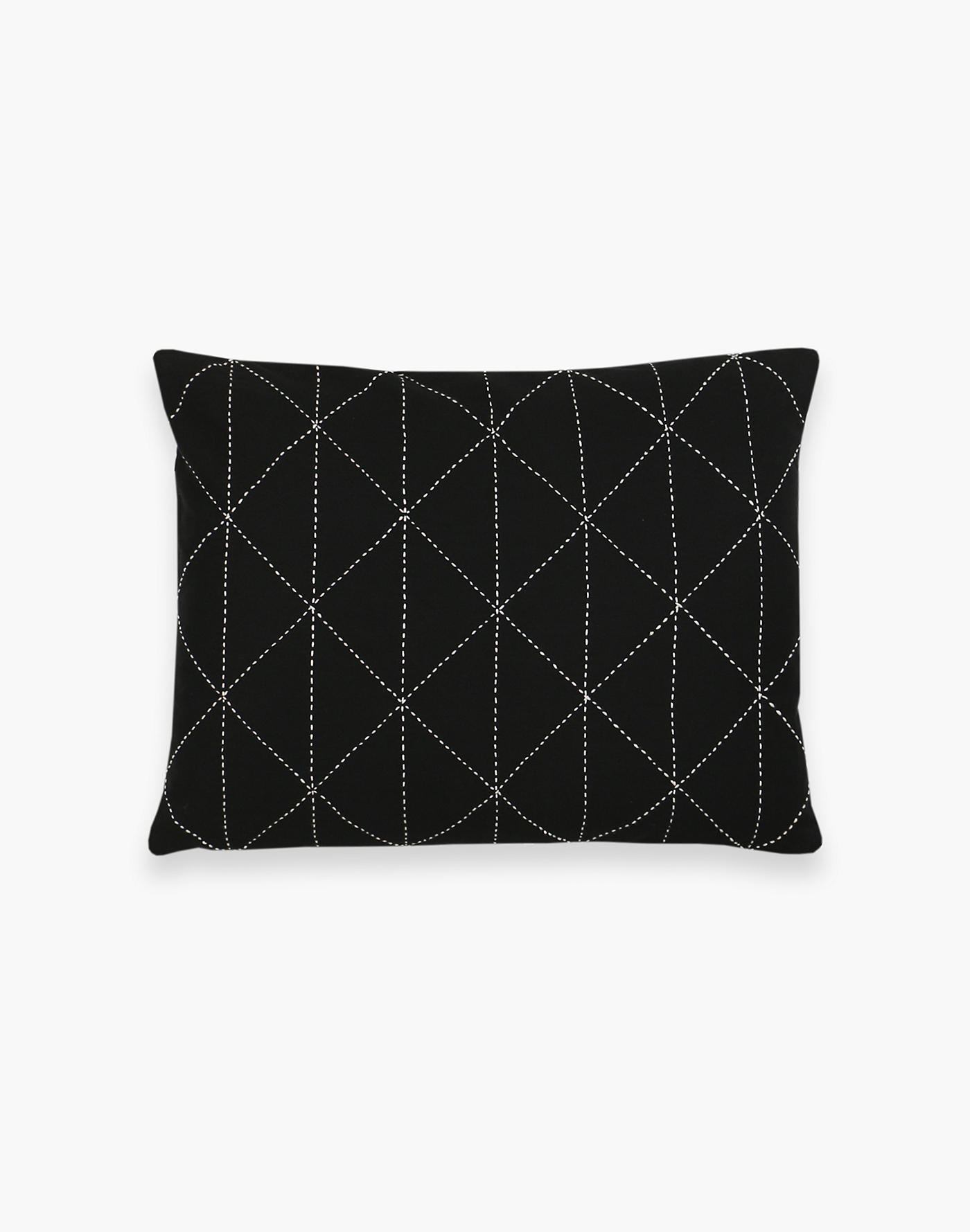 Madewell Anchal Stitched Organic Cotton Small Graph Throw Pillow