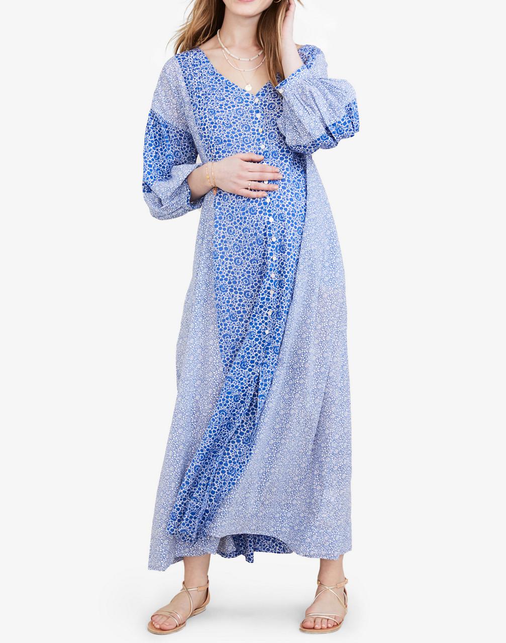 Vintage Maternity Dresses and Clothes HATCH Collectionreg Maternity Nessa Maxi Dress $258.00 AT vintagedancer.com