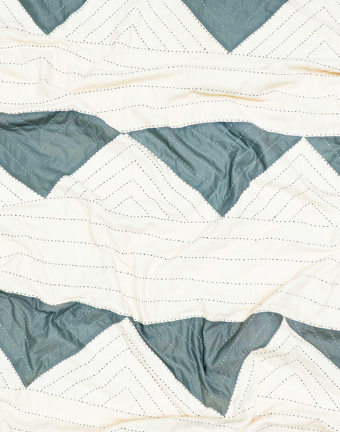 Madewell Anchal Organic Cotton Triangle Quilted Throw Blanket
