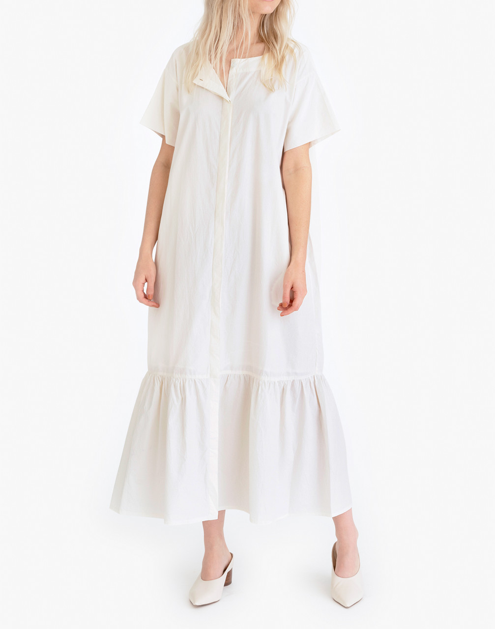 70s Dresses – Disco Dress, Hippie Dress, Wrap Dress Tribe Alivetrade Poplin Midi Shirtdress $198.00 AT vintagedancer.com