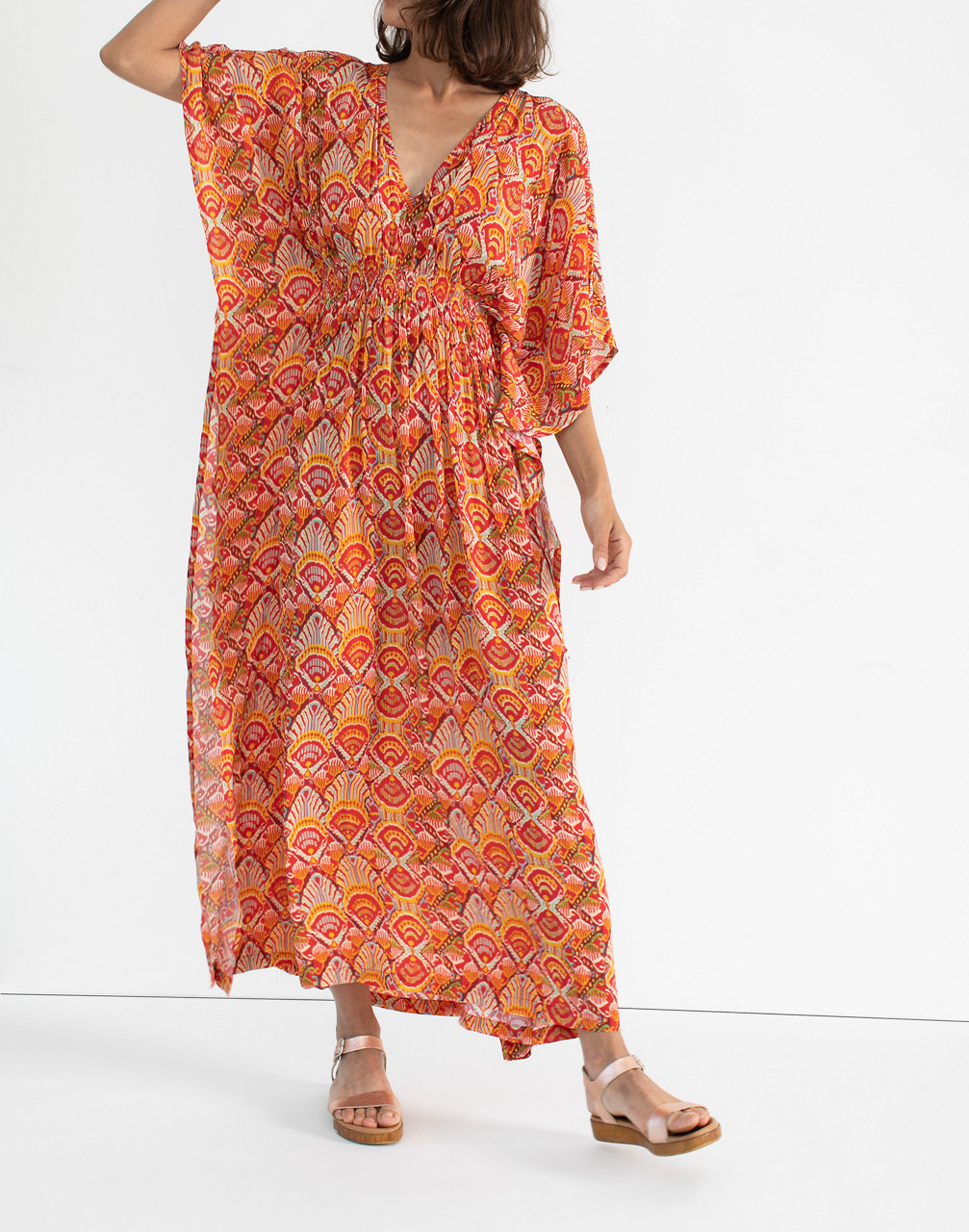 60s Mod Clothing Outfit Ideas rujuta sheth Marie Cinch Kaftan Dress $119.97 AT vintagedancer.com