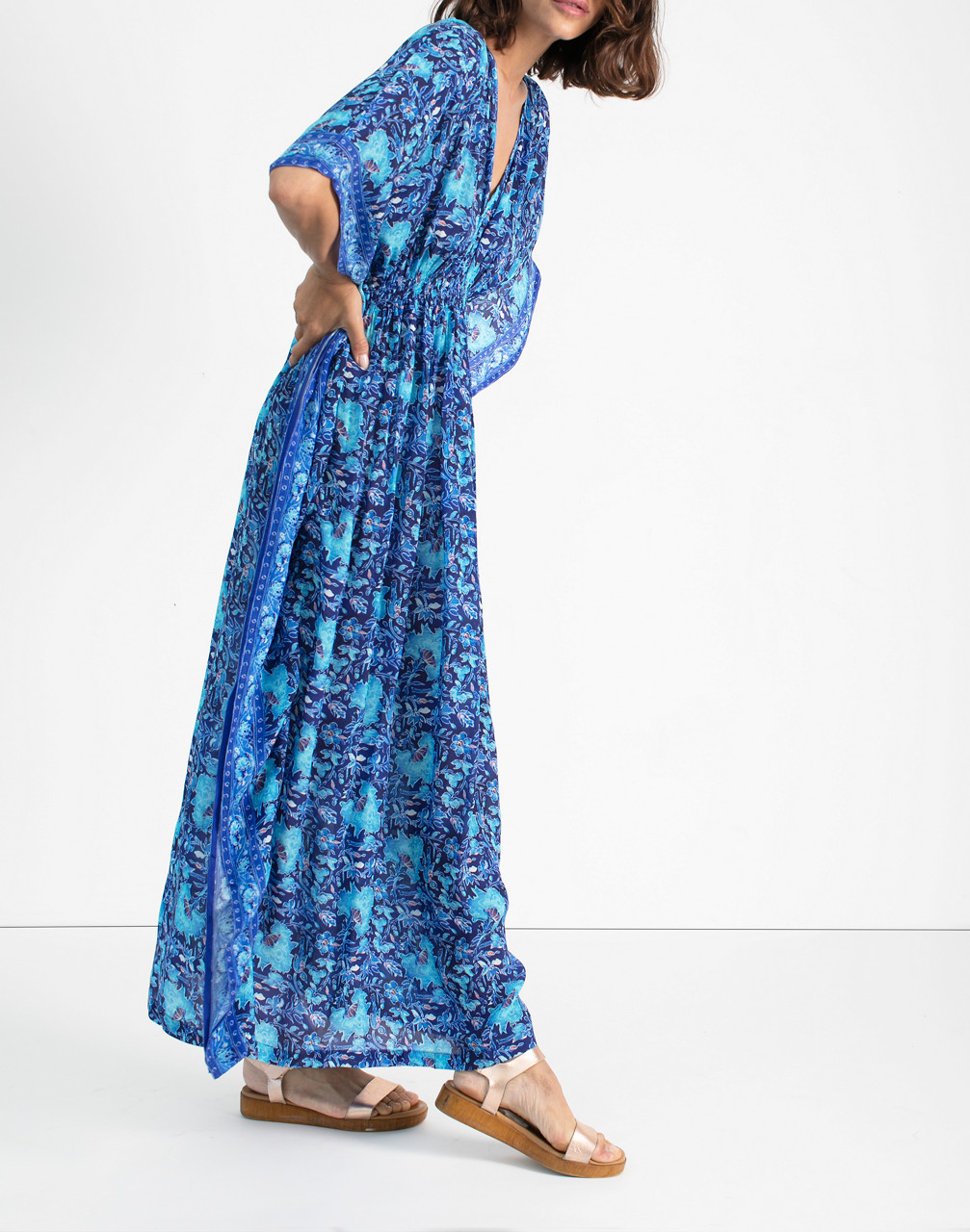 Cottagecore Dresses Aesthetic, Granny, Vintage rujuta sheth Marie Cinch Kaftan Dress $119.97 AT vintagedancer.com
