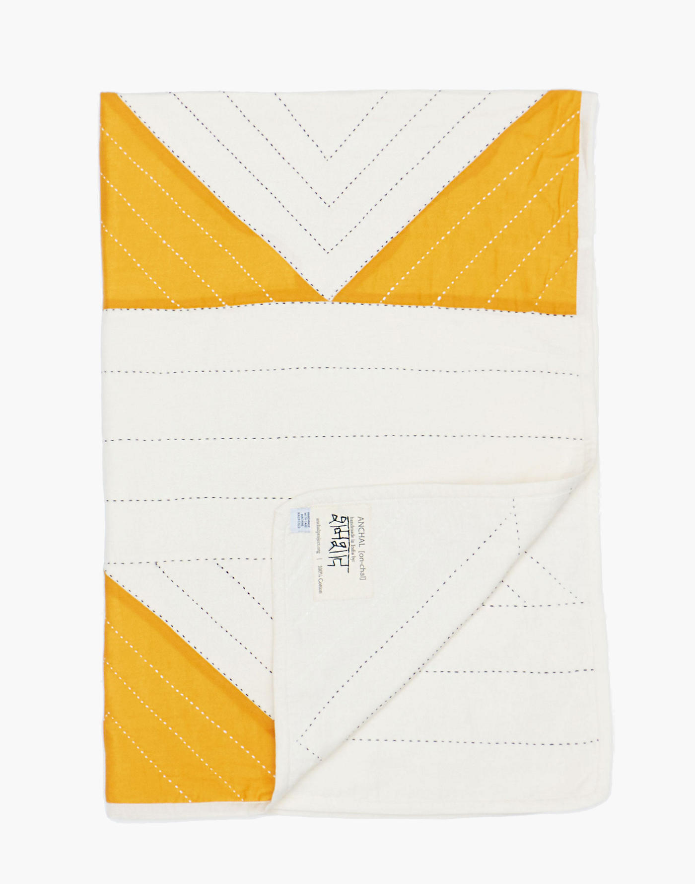 Madewell Anchal Organic Cotton Small Triangle Quilt