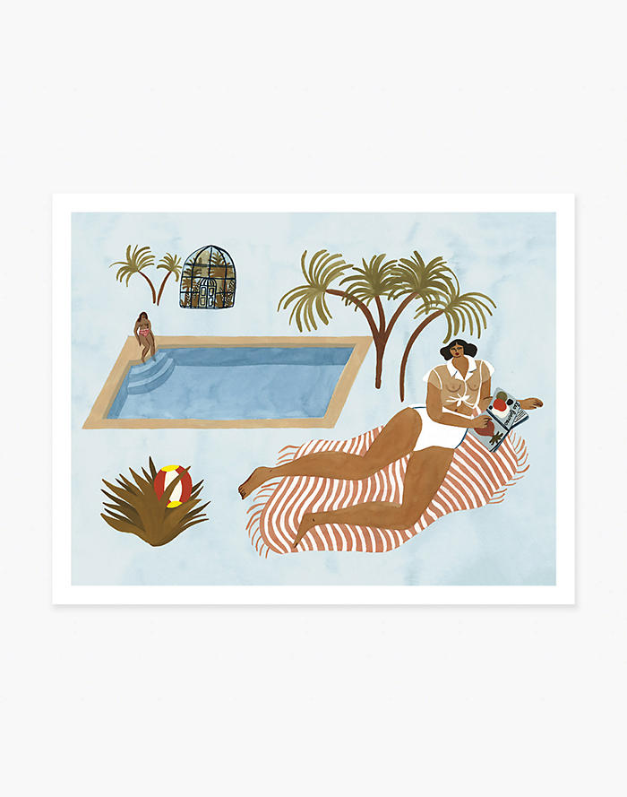 Madewell Slowdown Studio Far Off Poolside Art Print