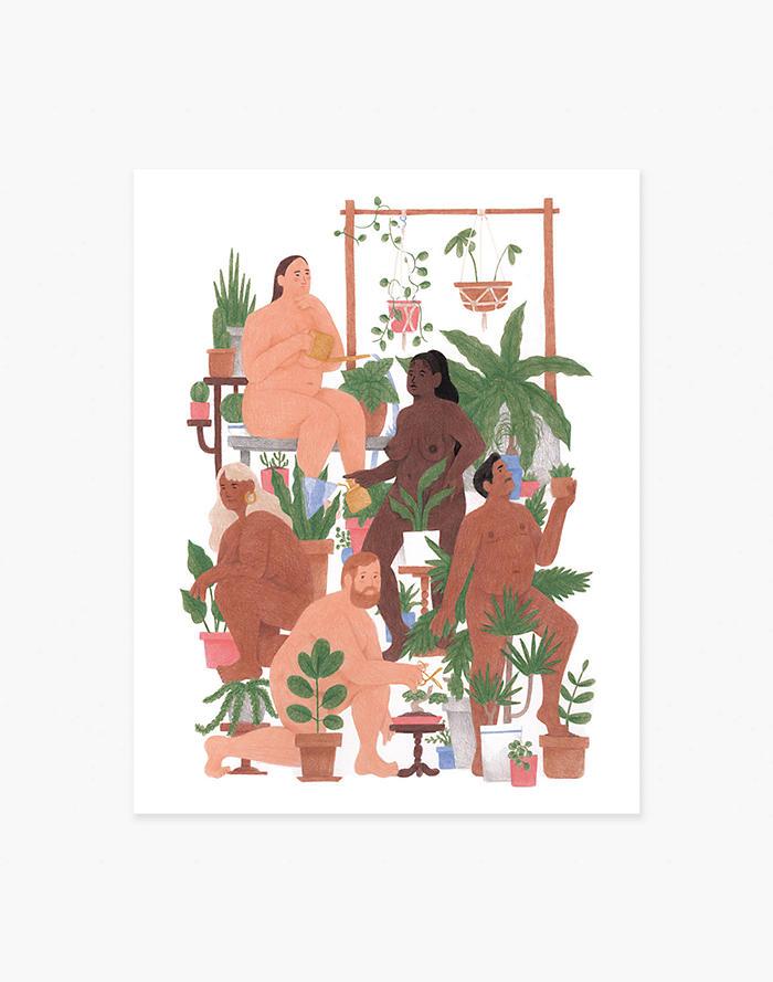 Madewell Slowdown Studio Nude Plant People Art Print