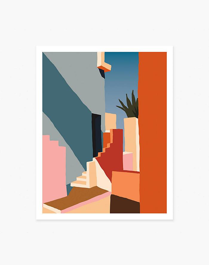 Madewell Slowdown Studio Tangerine Stairs Art Print