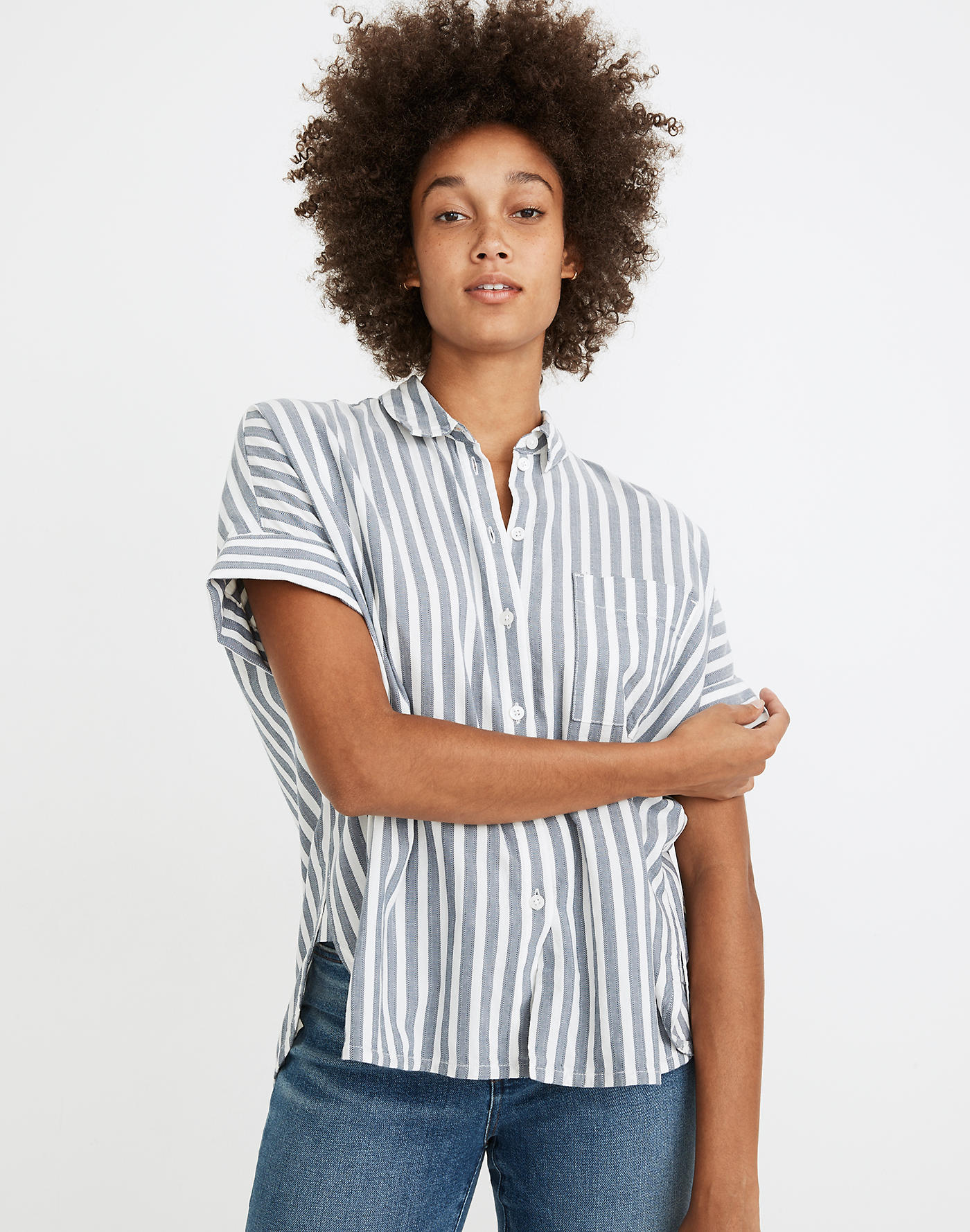 Madewell Daily Shirt in Stripe