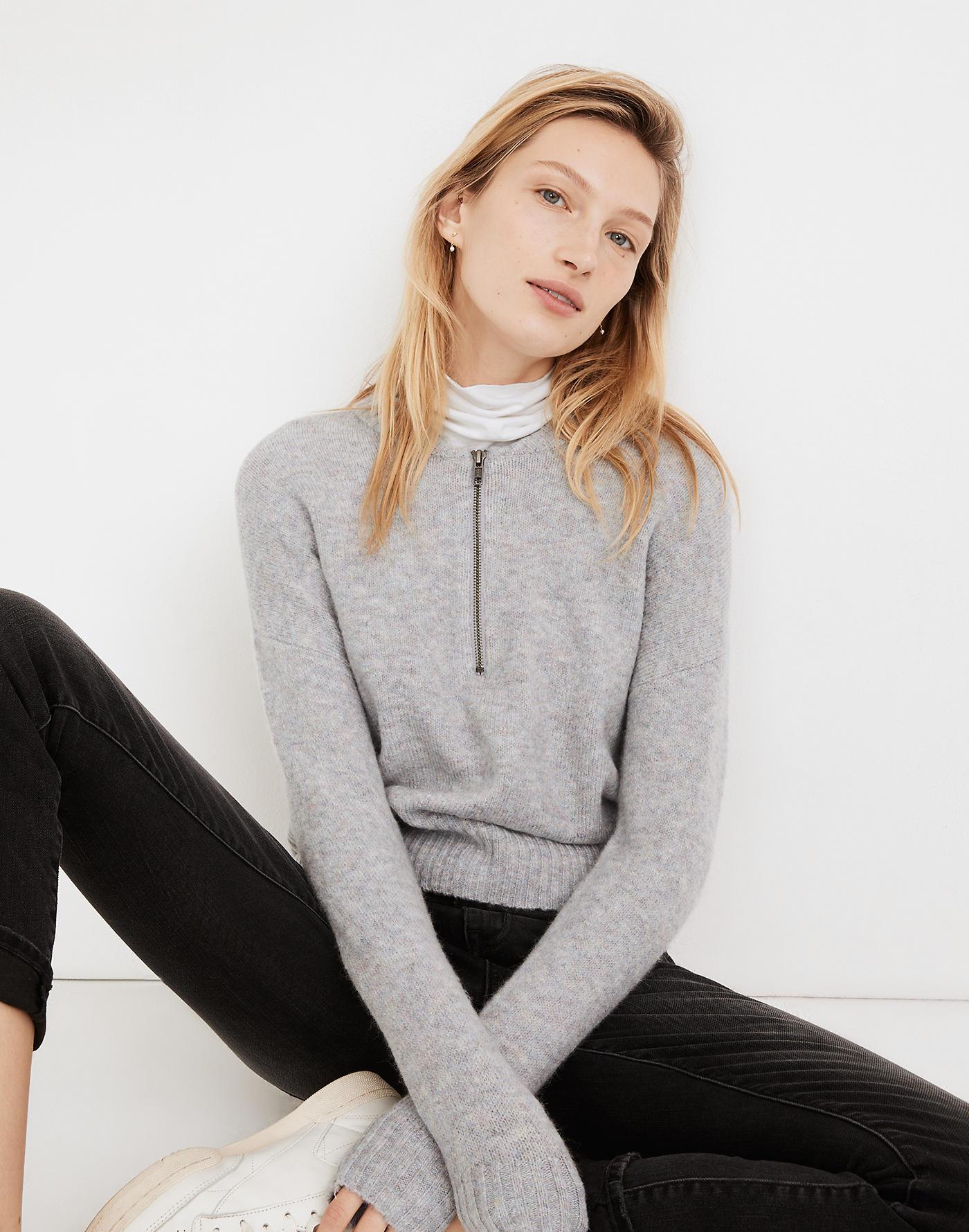 Madewell York Half-Zip Pullover Sweater
