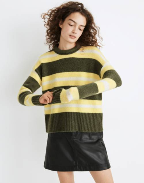 Striped Fulton Pullover Sweater   Madewell