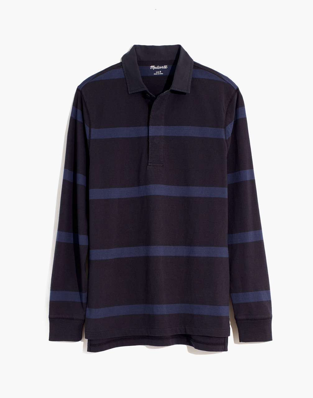 80s Men's Fashion & Clothing for Guys Striped Rugby Shirt $79.50 AT vintagedancer.com