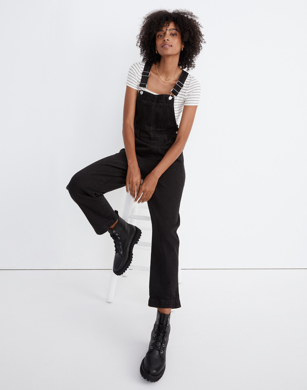 1980s Clothing, Fashion   80s Style Clothes Straight-Leg Overalls in Lunar Wash $148.00 AT vintagedancer.com