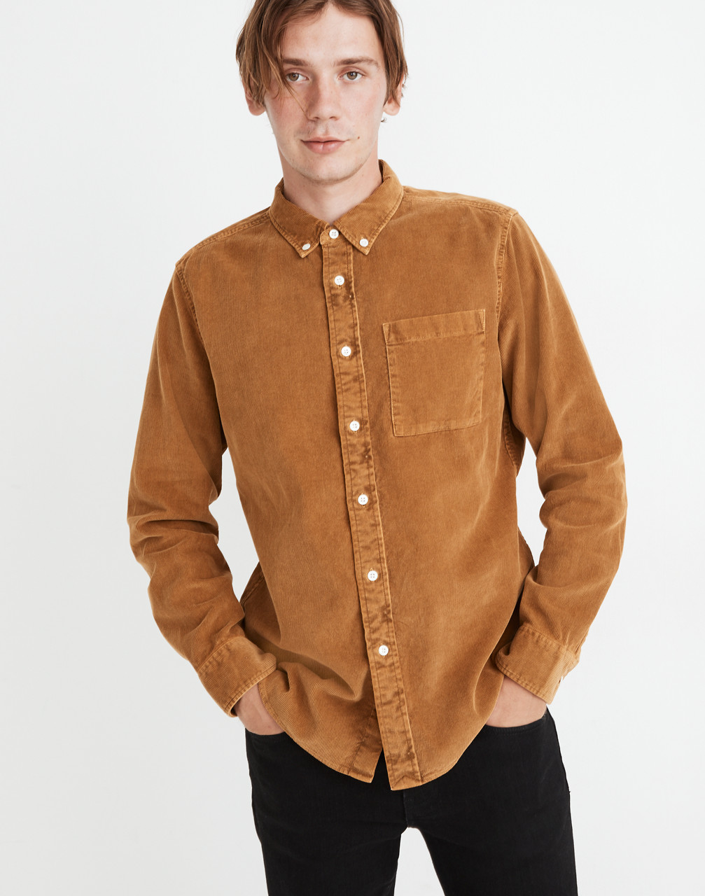Mens Vintage Shirts – Casual, Dress, T-shirts, Polos Corduroy Perfect Shirt $88.00 AT vintagedancer.com