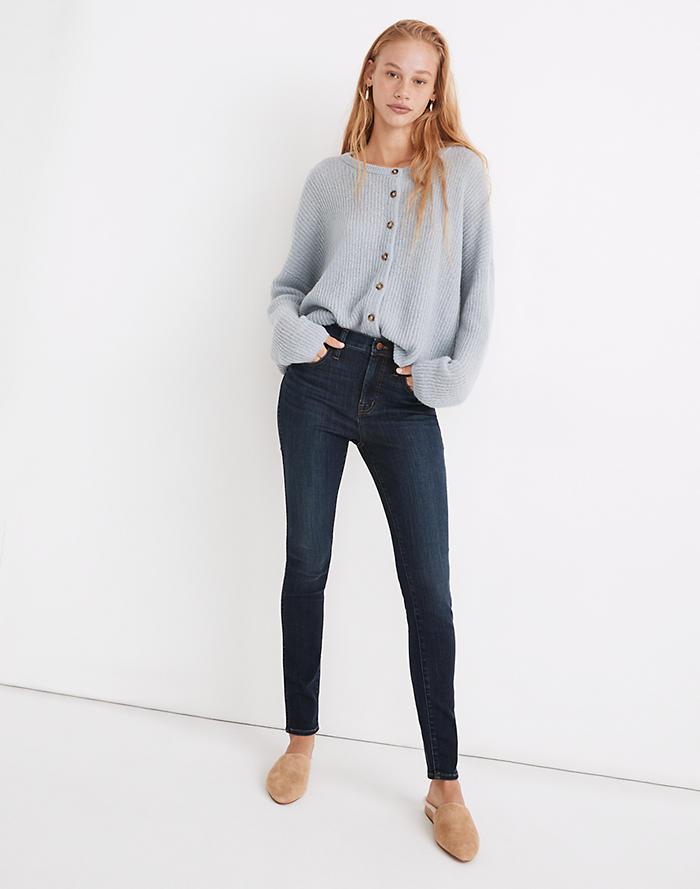 Madewell 10 High-Rise Skinny Jeans in Woodland Wash: TENCEL Denim Edition