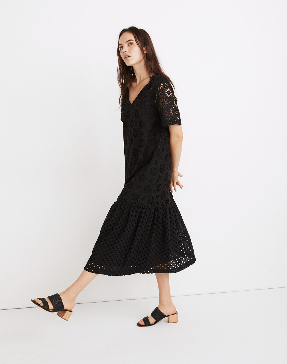 Great Gatsby Dress – Great Gatsby Dresses for Sale Eyelet-Mix Midi Dress $138.00 AT vintagedancer.com
