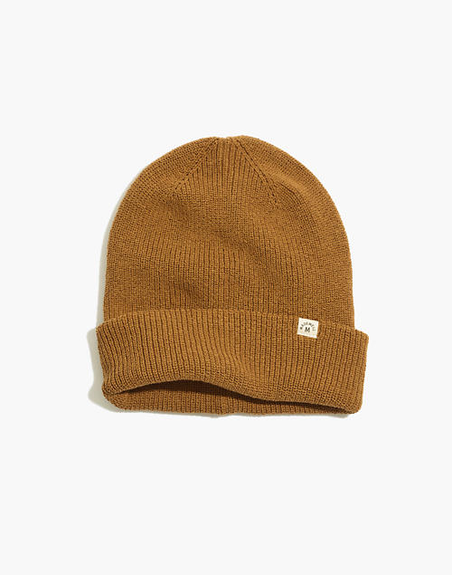 Recycled Cotton Cuffed Beanie in dried cedar