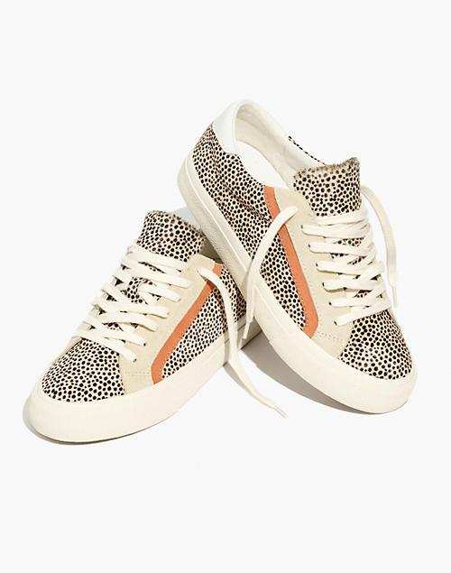 Sidewalk Low-Top Sneakers in Spotted Calf Hair in light sand multi image 1