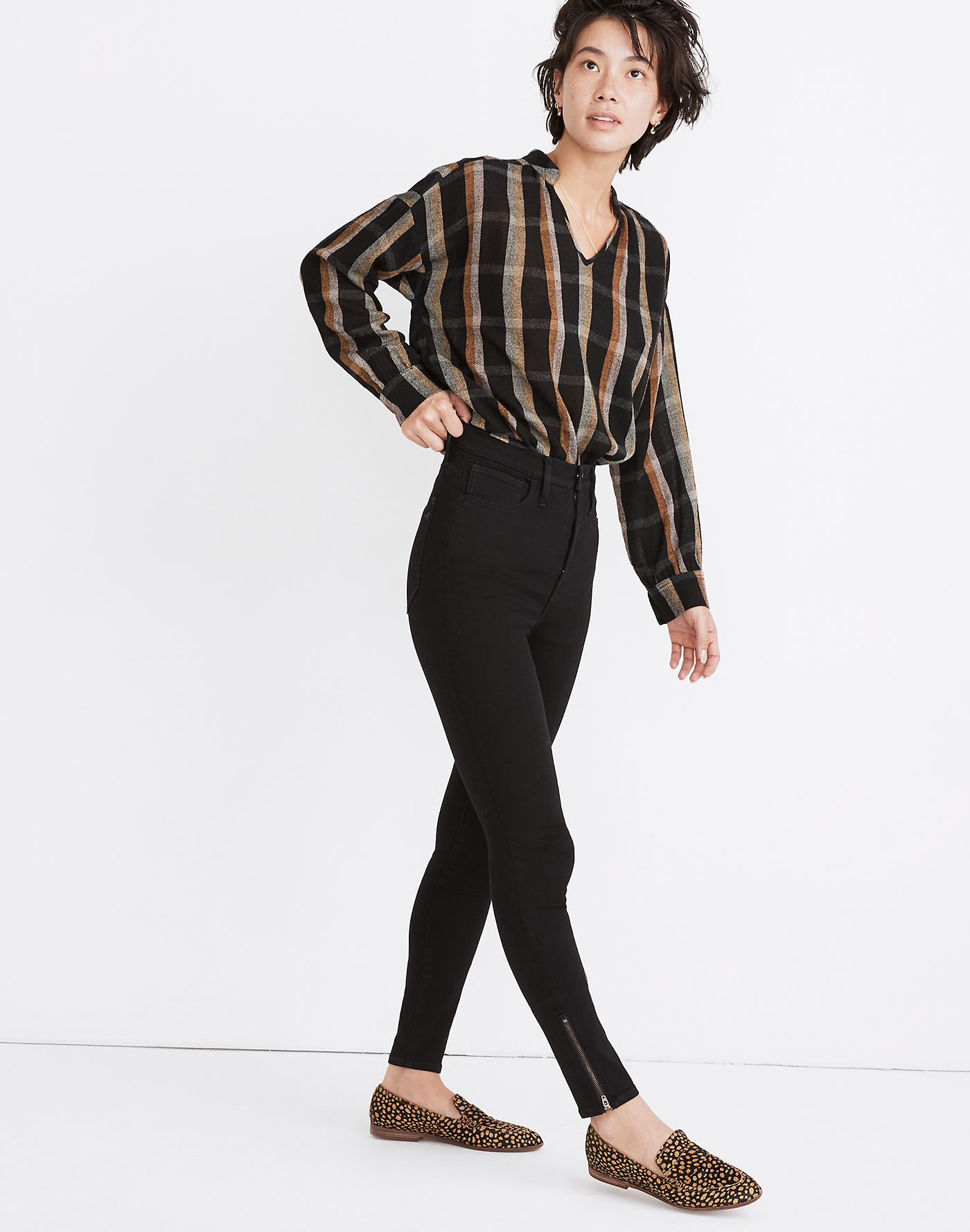 Madewell 11 High-Rise Roadtripper Jeans: Ankle-Zip Edition